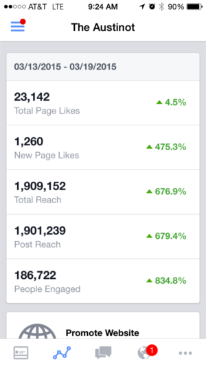 The Austinot Facebook Insights