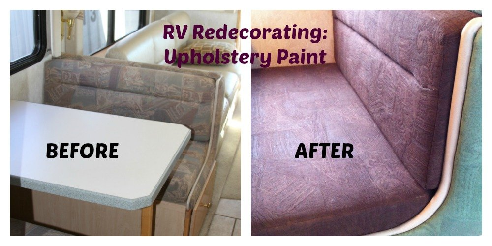 Before and After Upholstery Paint for RV