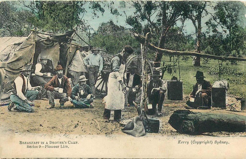 Breakfast in a Drovers Camp Australia