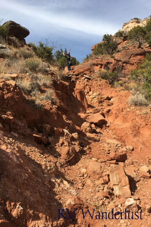 Challenging Hike Caprock Canyons
