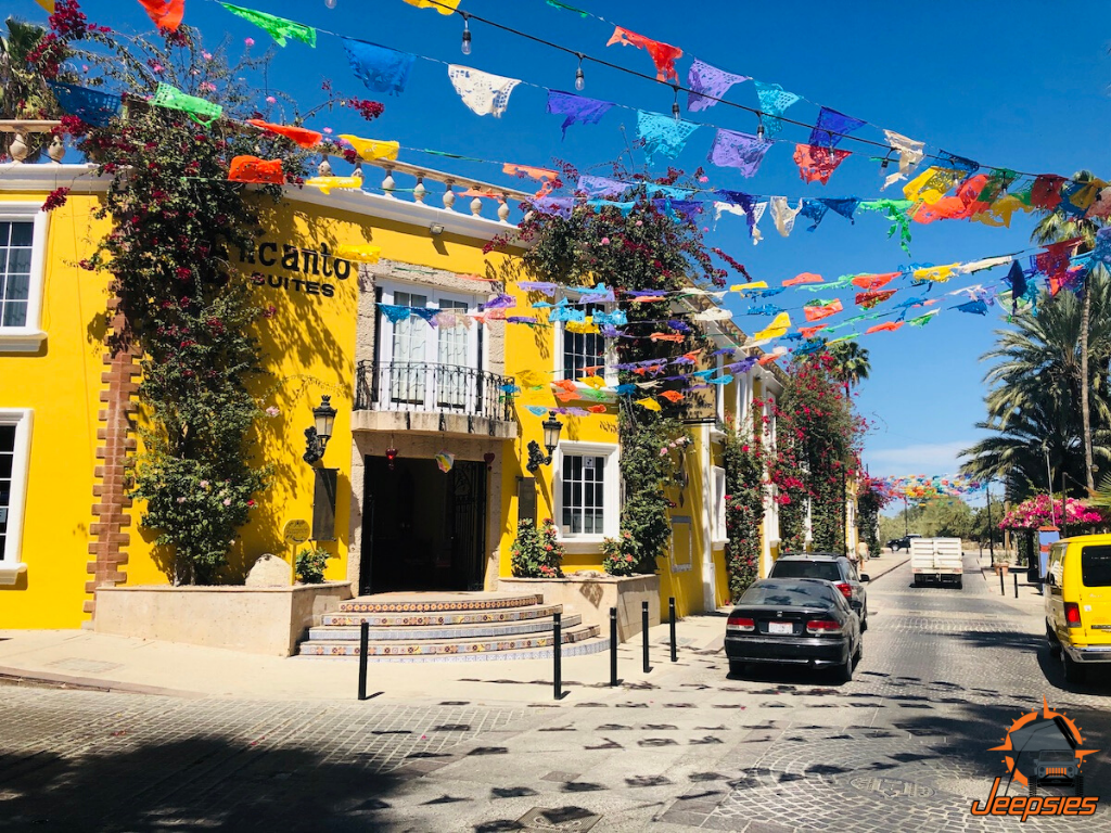 Colorful Streets and Flags in San Jose del Cabo
