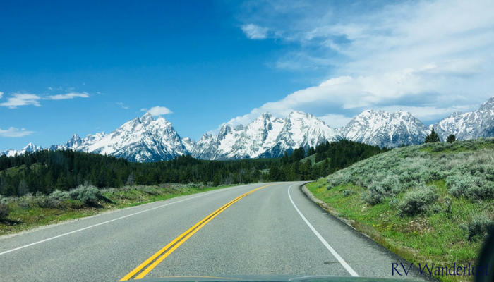 Driving Towards Grand Teton National Park