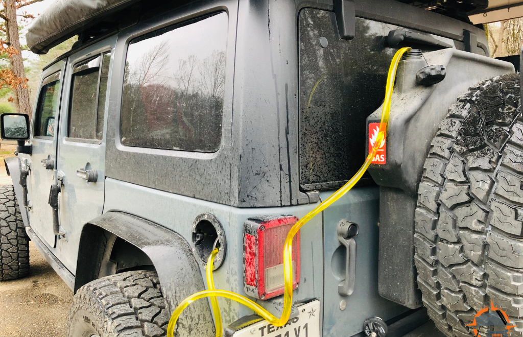 Extra Fuel Storage Tank for Overlanding