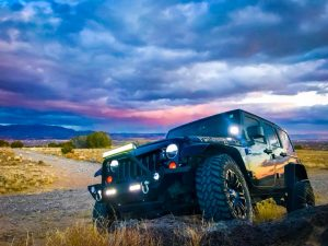 beautiful sunset jeep new mexico