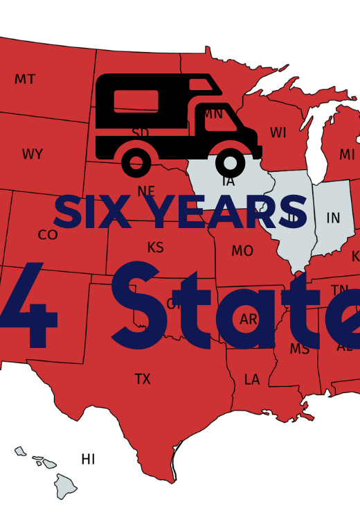 Six Years of Full-time RVing Map