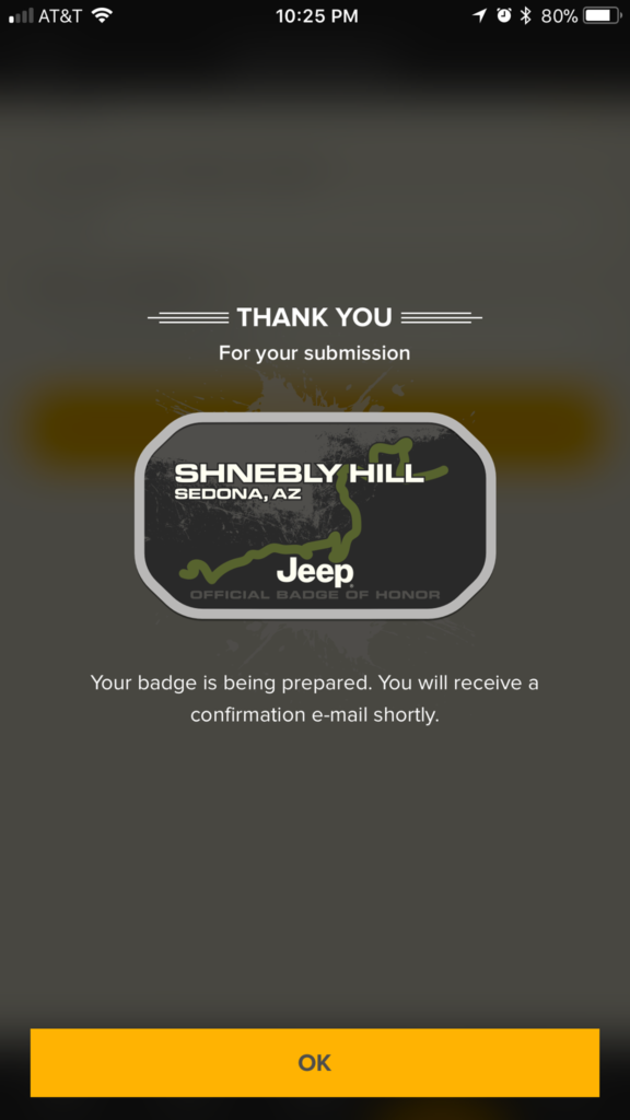 Jeep Badge of Honor Check in