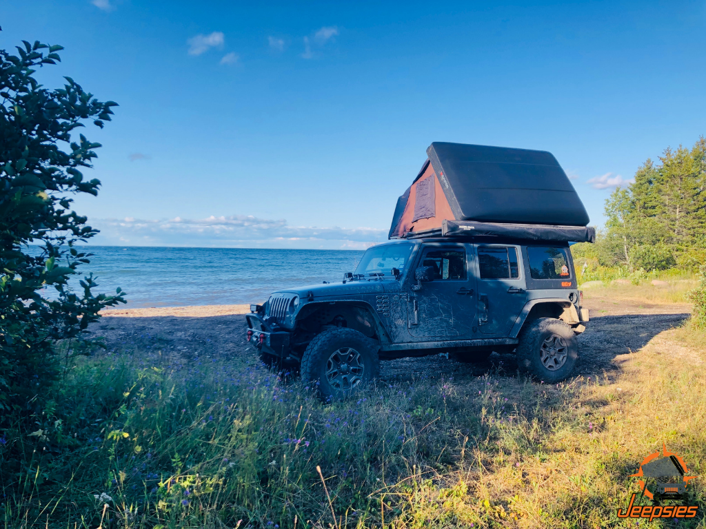 Jeep Overlanding With Roof Top Tent