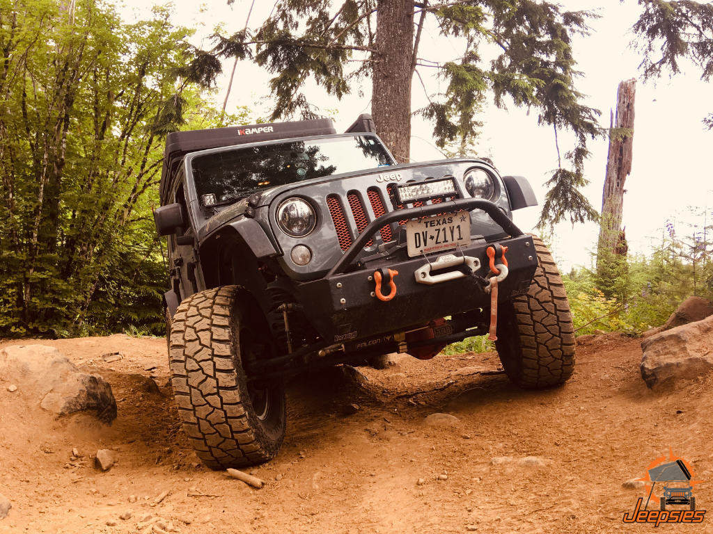 Off-roading Jeep Badge of Honor Trail