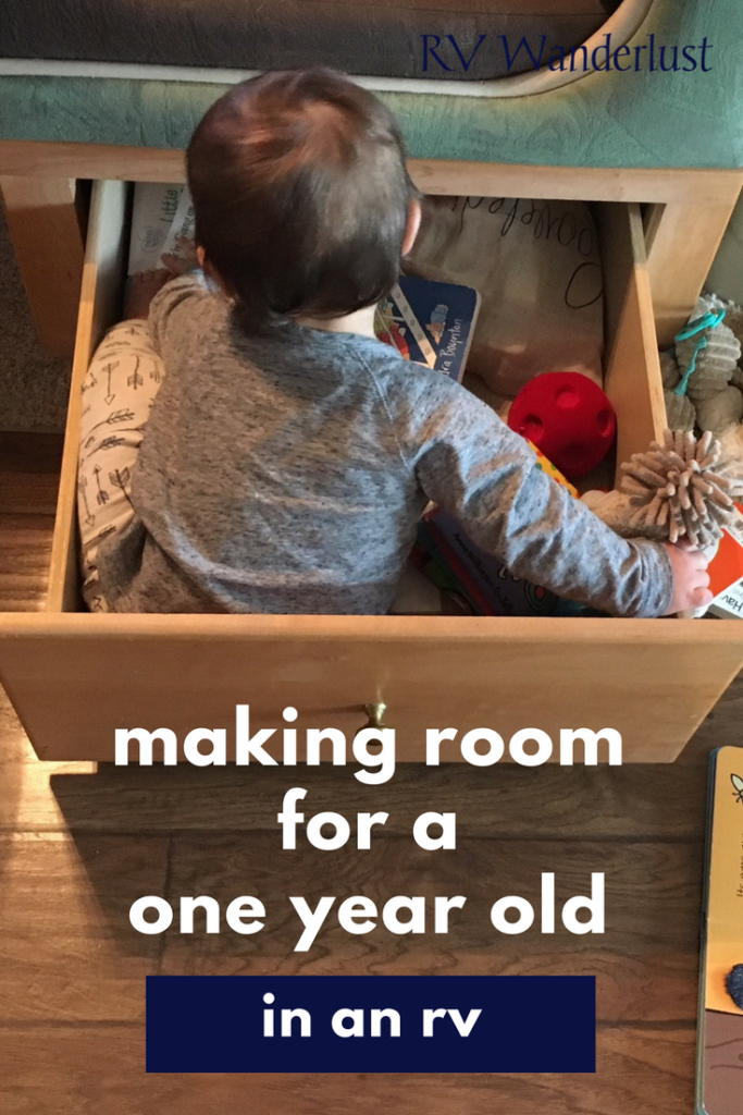 Making Room for One Year Old in an RV