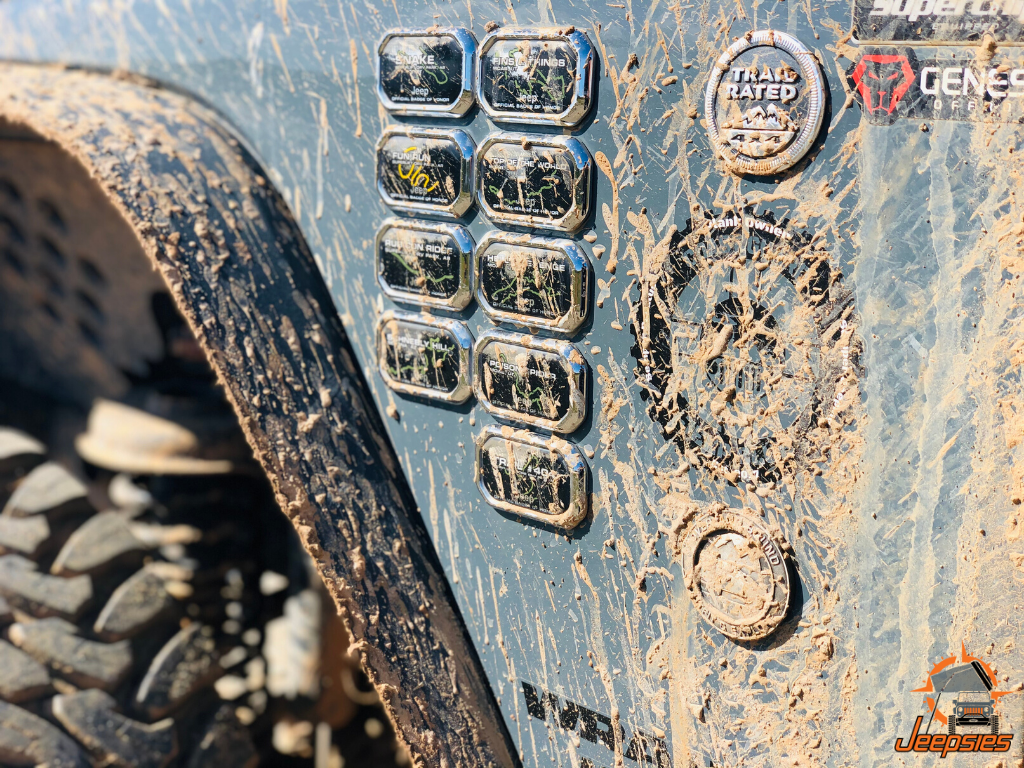 Mud on Jeep Badge of Honor Trail Badges