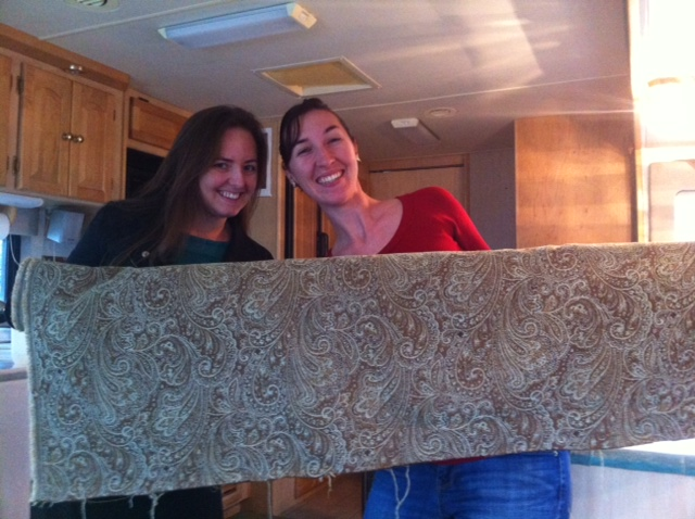 New Fabric for RV Cornice Boxes
