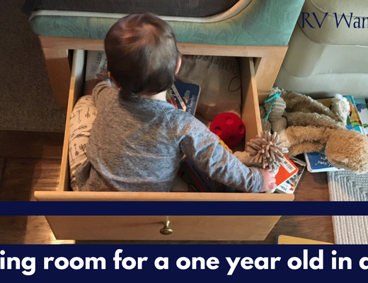 Making Room for a One Year Old in an RV
