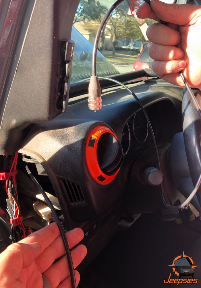 Running Midland Antenna Cable on Driver Side of Jeep