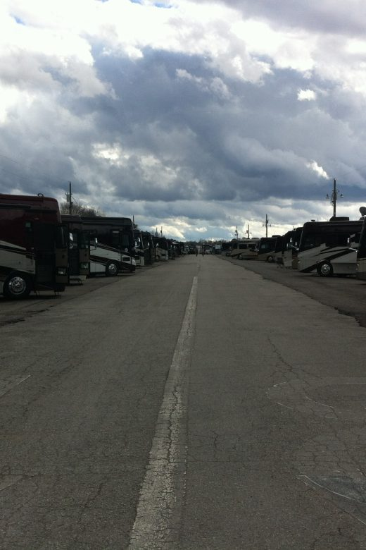 The Tiffin Motorhomes Service Campground in Red Bay, Alabama