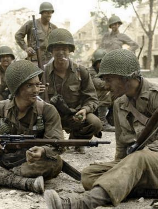 US Army soliders in WWII