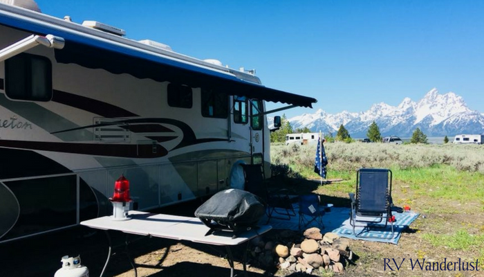 Best Dry Camping Upper Teton View