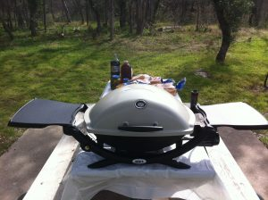 The Weber Q2200 portable gas grill