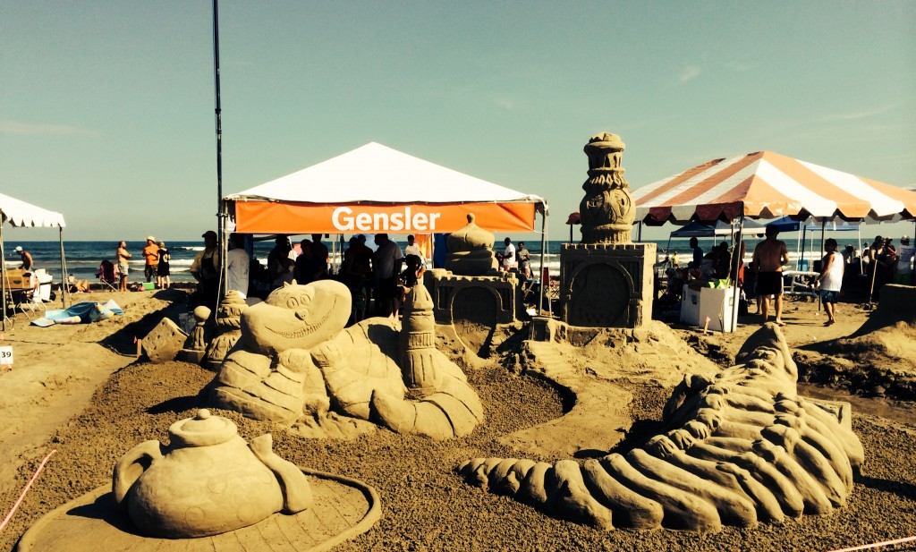 Alice in Wonderland sandcastle