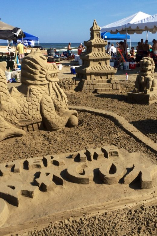 The winning entry at the AIA sandcastle competition 2014