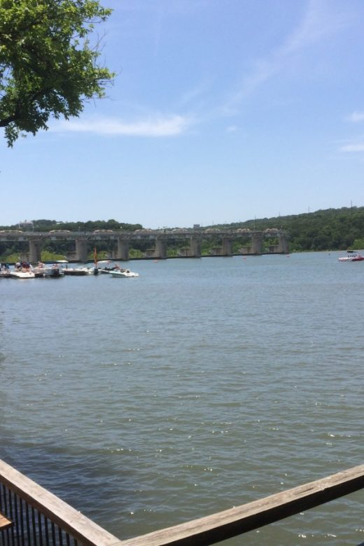 Mozart's Coffee Roasters in Austin has a lovely view of the lake