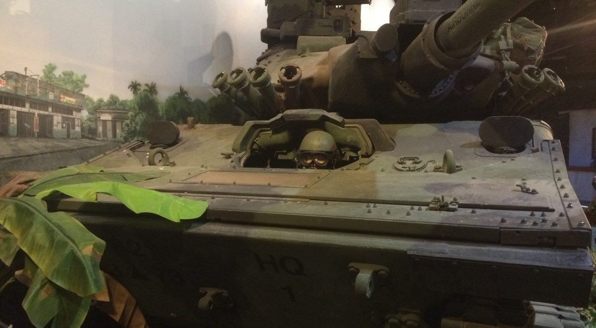 A tank from the Special Forces Museum