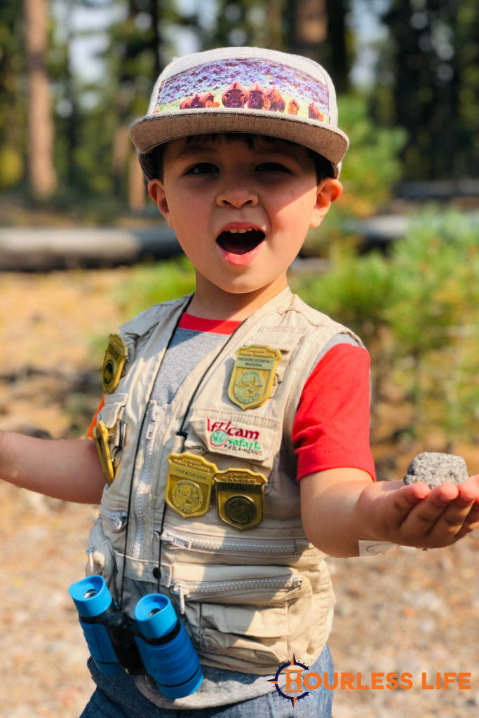 Caspian Highland Junior Ranger at Lassen Volcanic