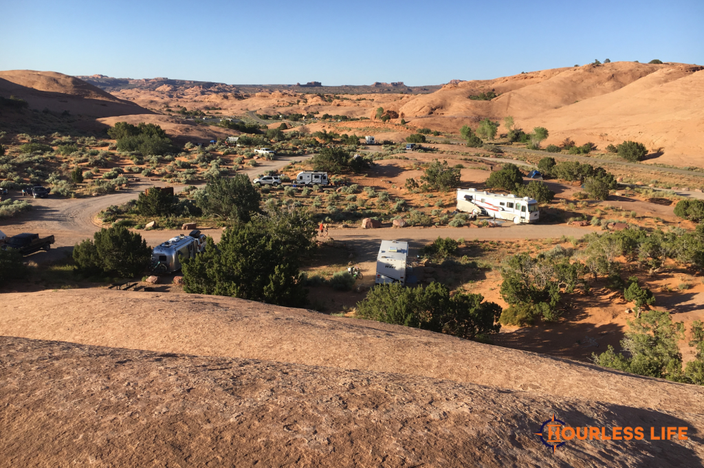 Dry Camping With RV in Moab