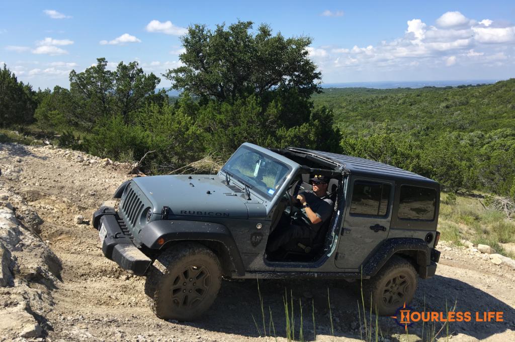 Jeep Wrangler Off-roading in Texas