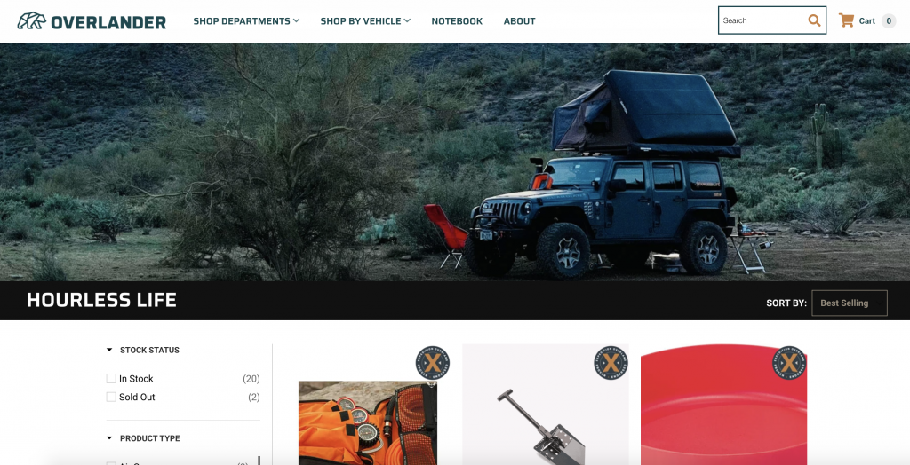 Hourless Life collection on Overlander.com