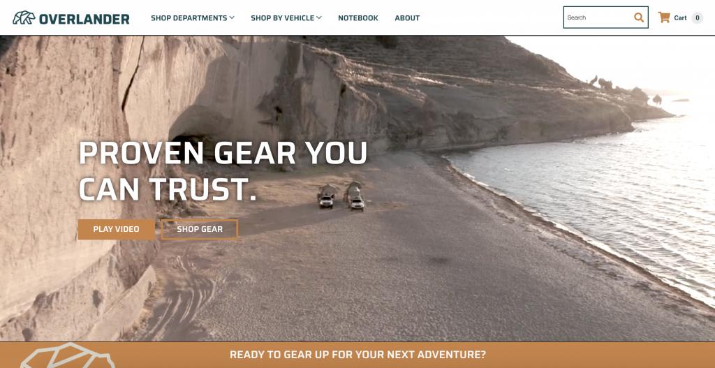 Overlander.com Home Page for Overlanding Gear