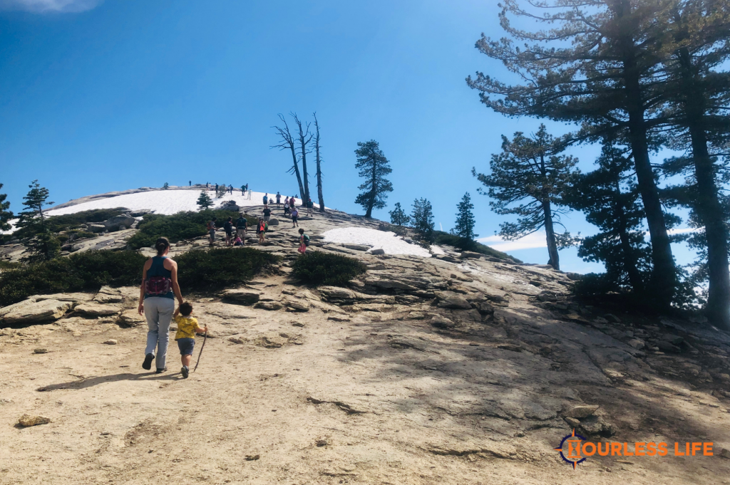 Hiking With Young Kids Up Mountain