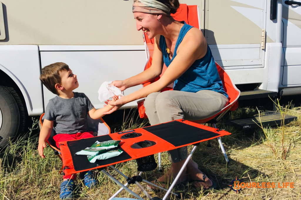 Hygiene While Dry Camping With Kids